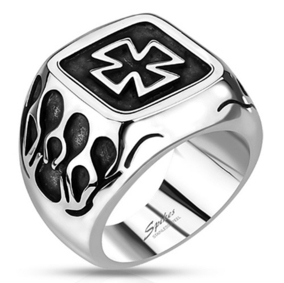 spiked Other - Stainless steel biker ring